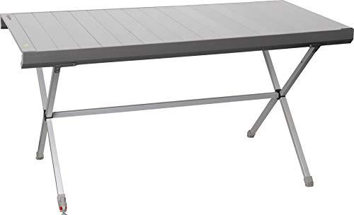 BRUNNER Campingtisch Titanium Axia 6 Netzablage Wasserwaage höhenverstellbar Tisch Rolltisch Alu