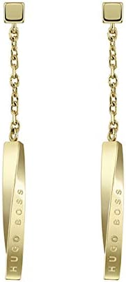 HUGO BOSS WOMEN'S IONIC GOLD PLATED STEEL EARRINGS -158