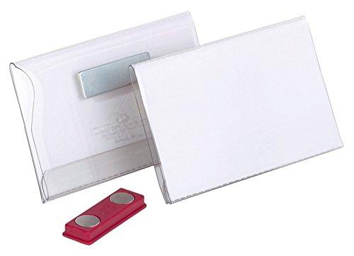 Durable 811719 Namensschild (mit Magnet, 54 x 90 mm) Packung à 25 Stück transparent