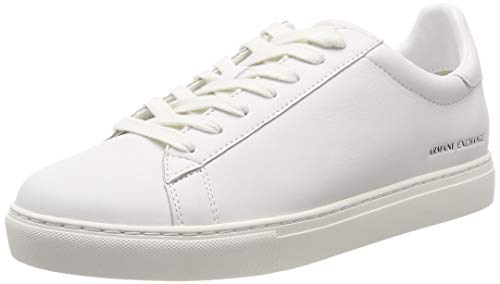 Armani Exchange Herren LACE UP Sneaker Weiß (White 00001) 42 EU