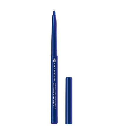 Yves Rocher COULEURS NATURE wasserfester Augenkonturen-Stift Bleu flash, Eyeliner Drehstift, waterproof in Blau, 1 x Stift 0,3 g