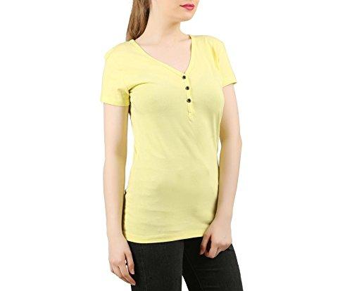 Clifton T-Shirt - Femme jaune citron