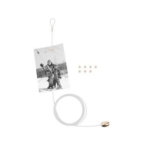 Kikkerland, supporto per foto e cartoline con 8magneti, White, 6.5 x 3.5 x .75 Inches