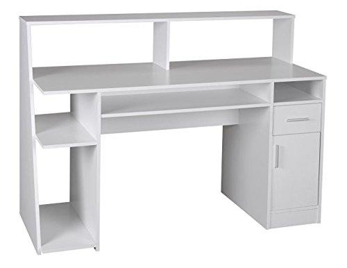 Tavolo Ufficio Bianco : Wohnling multi funzione design scrivania computer tavolo bianco