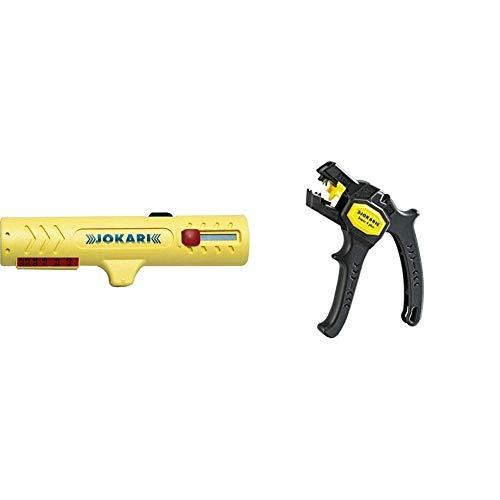 JOKARI Vielzweckabisoliermesser Nr.15 Kabel-D.8-13mm JOKARI Litzen-D.0,2-4, 30150 & 20050 Abisolierzange Super 4 plus