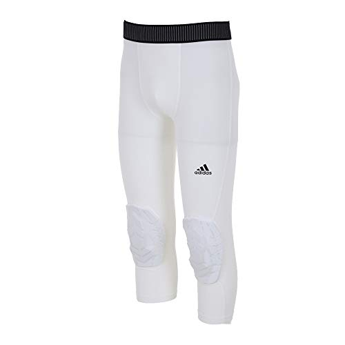 adidas 3/4 Padded Tight Herren, White, L