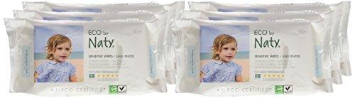 Naty by Nature Babycare Öko Feuchttücher Unparfümiert, 12er Pack (12 x 56 Stück) - 2
