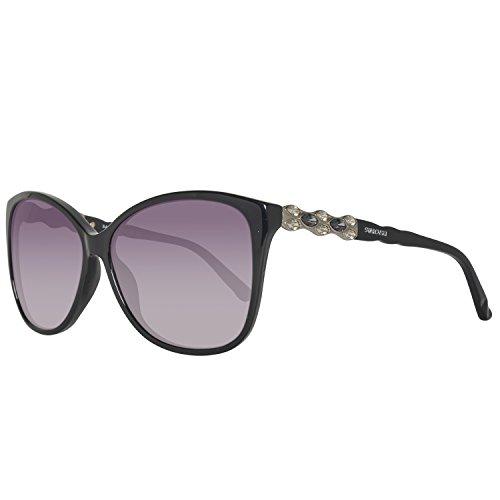 Swarovski sk0085-6001b, occhiali da sole donna, nero (shiny black), 60