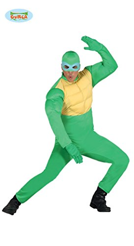 Ninja Schildkröte - Kostüm für Herren Gr. M/L, (Turtle Lustig Ninja Kostüm)