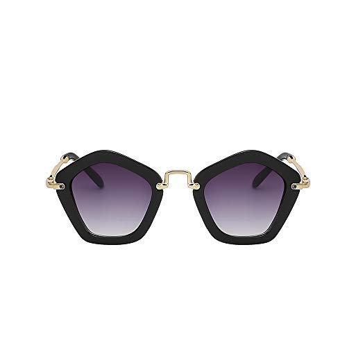 WJMLHLKK Vintage Kinder Sonnenbrille Mädchen Hipster Kinder Sonnenbrille Metall Hochwertige Brille Markendesigner Oculos