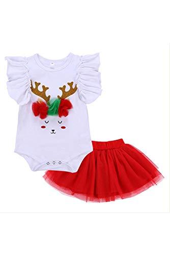 en Kurze Ärmel Weihnachten Santa Claus Body Overall Strampler Outfit und Kleid ()