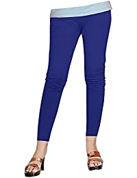 64f7f016d1f78 -Multiple Colors-5-6 Years Pack of 5 Indistar Big Girls Cotton Full Ankle  Length Solid Leggings