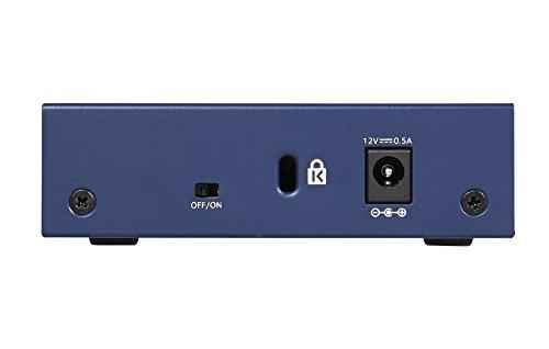 Netgear GS105GE Switch 5 Ports Gigabit Boitier Métal, Prosafe