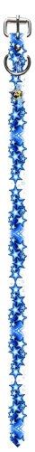 Perri's Tattoo Johhny Hundehalsband, Leder, mit Vinyl-Aufdruck, 45,7 cm, Blau -