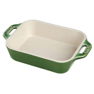 Staub Rectangular Dish, Basil, 10.5 x 7.5 - Basil by Staub