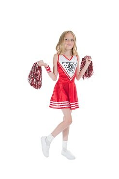Monster Cheerleader Dress Kostüm Größe S Kinder Karneval Sportfest 50259