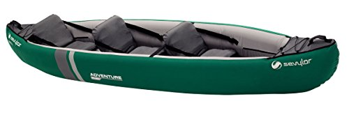 Sevylor Adventure Plus (2 + 1 P) -Canoa, Unisex, Verde, No