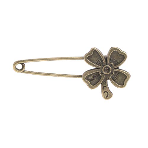 JAGETRADE Brosche Frauen Brosche Bronze Retro Vintage Legierung Sicherheitsnadeln Blume Taube Antike Messing -