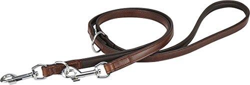 Knuffelwuff 13960-005 Leder Hundeleine Führleine mehrfach verstellbar, Länge 200 cm, Breite 12 mm, braun - 2