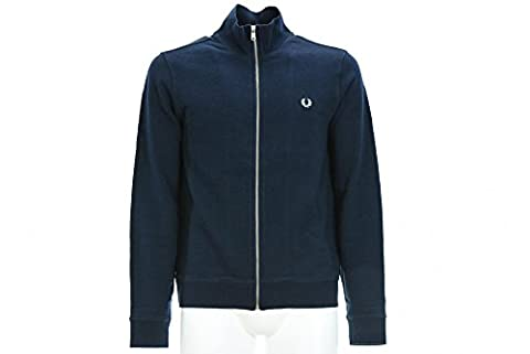 FRED PERRY Man Sweatshirt SM1601 704 LOOPBACK JACKE SWEAT XL Blu