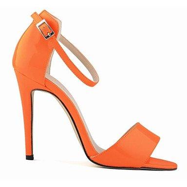 SANMULYH Scarpe Donna Pu Primavera Estate Comfort Sandali Di Abbigliamento Casual Rosa Fucsia Orange Bianco Nero Arancione