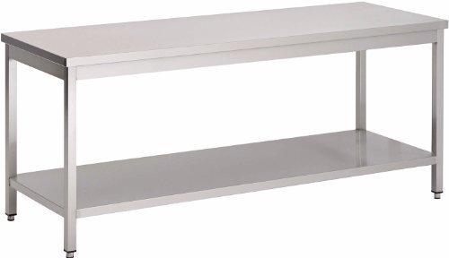 Saro Arbeitstisch aus Edelstahl Modell LILIAN 1600 mm