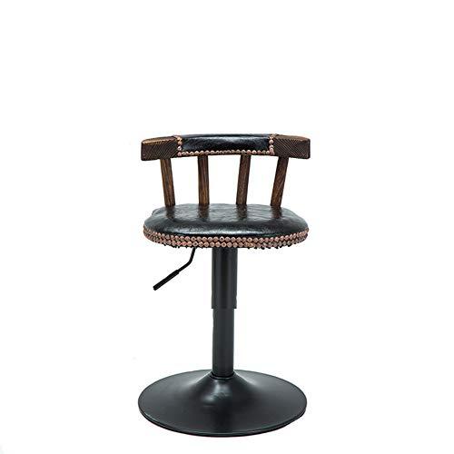 Bar Aus Holz Armlehne (Massivholzmöbel Café Bar Stuhl Fenster Stehtisch Stuhl Massivholz alte Bar Stuhl Kombination-6-B)