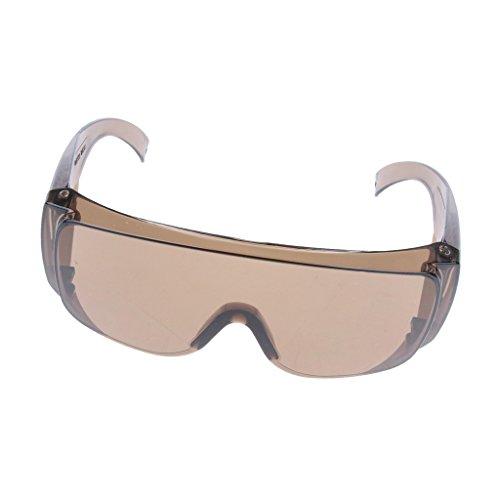 Homyl Laborsicherheit Schutzbrille Schutz Gläser UV-Schutz Brille Persönliche Schutzausrüstung, klare Linse Vollsichtbrille Anti-Schock -Amber