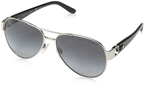 Ralph Lauren Damen RL7047Q Sonnenbrille, Silber (Silver 9001T3), One size (Herstellergröße: 58)