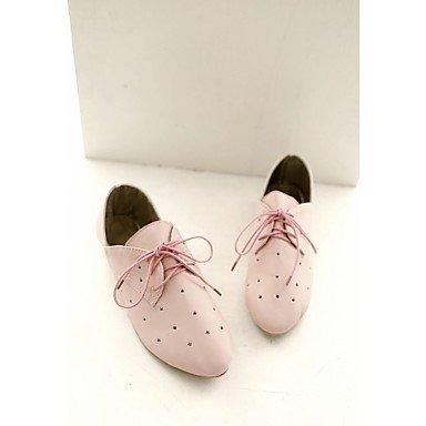 SHOESHAOGE Chaussures Pour Femmes De Similicuir Pu Printemps Été Automne Hiver Nouveauté Appartements Confort Talon Plat Chaussures De Marche Chaussures De Mariage Pour Office &Amp; Pink