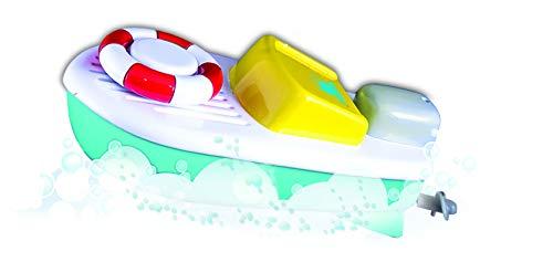 BB Junior Splah ´N Play: Boot mit Rettungsreifen, ideal für Wasser geeignet, inkl. eingebautem Motor, fährt nach aufziehen des Rettungsreifens los, ab 12 Monaten, 16 cm, blau (16-89002)
