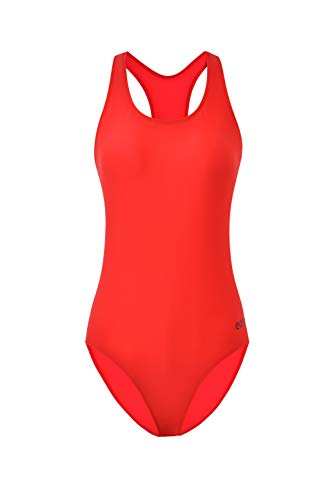 Eono Essentials Badeanzug für Damen (Rot, Größe XL)