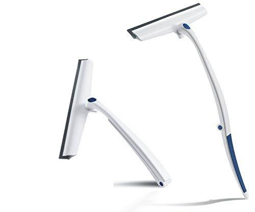 Revo Cleanline 360 Duschwischer / Duschabzieher   streifenfreies Glas durch Profi-Lippe   neuartiger Klappgriff   drehbarer Wischerkopf   Aufhängung ohne Bohren durch integrierten Haken