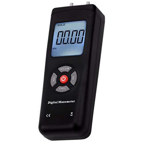TOOGOO Manometer Digitales Tragbares Hand Luft Vakuum Gas Druck Mess Ger?T mit Hintergrund Beleuchtung 11 Einheiten +/- 13,78 KPa +/- 2 Psi