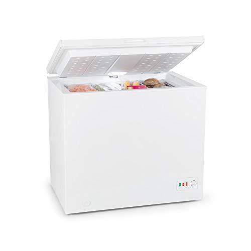 Klarstein Iceblokk Eco Gefriertruhe - Gefrierschrank, 200 Liter Volumen, Energieeffizienzklasse A+++, 116 kWh/Jahr, 49 Watt Leistung, freistehend, 94,5 x 85 x 70 cm (BxHxT), LED, 41 dB, weiß