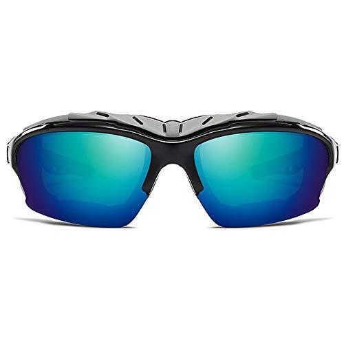 WULE-Sunglasses Unisex Grün/Grau Farbtrend Männer und Frauen mit der gleichen Sonnenbrille PC-Material UV-Schutz Polarisierte UV400-Sonnenbrille for den Außenbereich (Farbe : Gray)