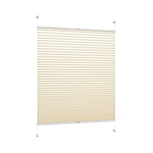 DecoProfi pleated, Fabric, cream, 65 x 130 x 2 cm