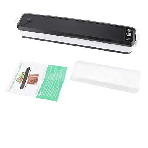 Envasadora al vacío One-Touch de 11,4 pulgadas, evita el crecimiento de moho y bacterias, para verduras, carne, pescado, postres y pasteles. Negro
