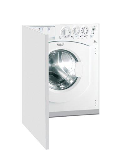 Hotpoint AWM 1081 EU Intégré Charge avant 7kg 1000tr/min A+ Blanc machine à laver - Machines à laver (Intégré, Charge avant, Blanc, boutons, Rotatif, Gauche, Blanc)
