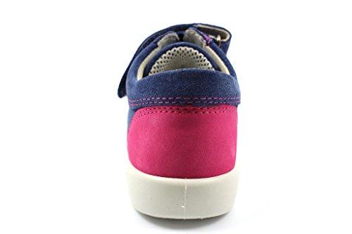 Superfit  00018-88, Chaussures de ville à lacets pour fille Bleu