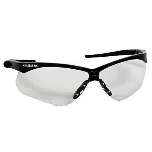 Kimberly Clark 28618 JACKSON SAFETY V60 NEMESIS RX Schutzbrille, klare Anti Nebel Sichtscheibe, 1.00 Dioptrien, Transparent (6-er Pack)