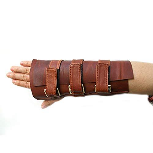 Bane Handgelenkschutz Brace Leder Handschuhe Rechte Hand Gauntlet -
