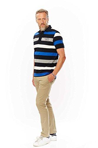 ... Kitaro Herren Shirt Poloshirt Karibik Piqué Striped Rot ...