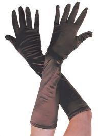 Halloween Fancy Dress Zubehör Gatsby Damen Kostüm–Satin Handschuhe (Avenue Satin Kostüme)