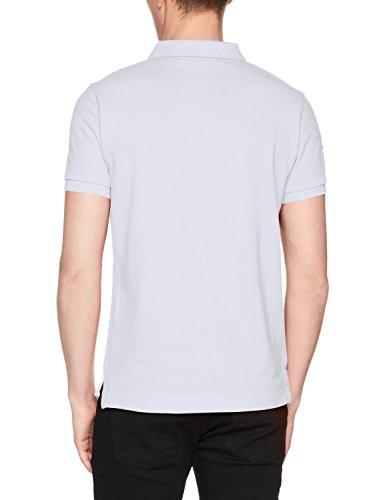Superdry Herren Poloshirt Classic S/S Pique Polo Grigio (Super Dry Stadium Grey Marl)
