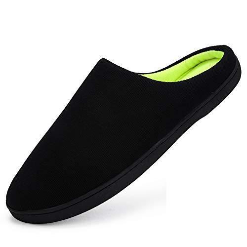 CUSTOME Homme Femme Hiver Unisex Pantoufles Coton Chaussons Doublure Intérieure Douce Mules Accueil Slippers Chaussures