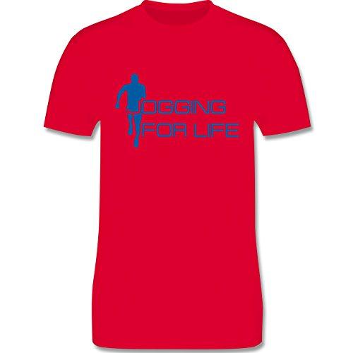 Laufsport - Jogging for Life - Herren Premium T-Shirt Rot