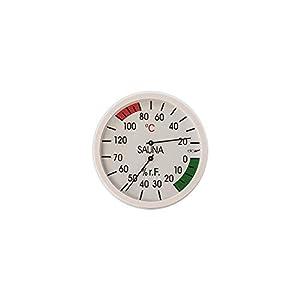 eliga Klimamesser weiß 120 mm für Sauna