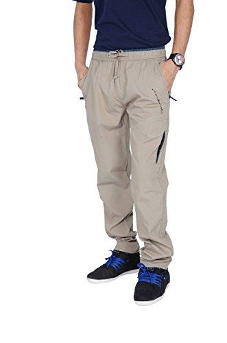 JTInternational Gray Cotton Regular Fit Men's Cargo Track Pant