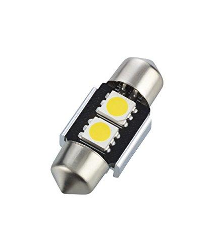Preisvergleich Produktbild 1 x Soffitte 31mm 2 SMD LED Leseleuchten Kofferraumbeleuchtung Weiß